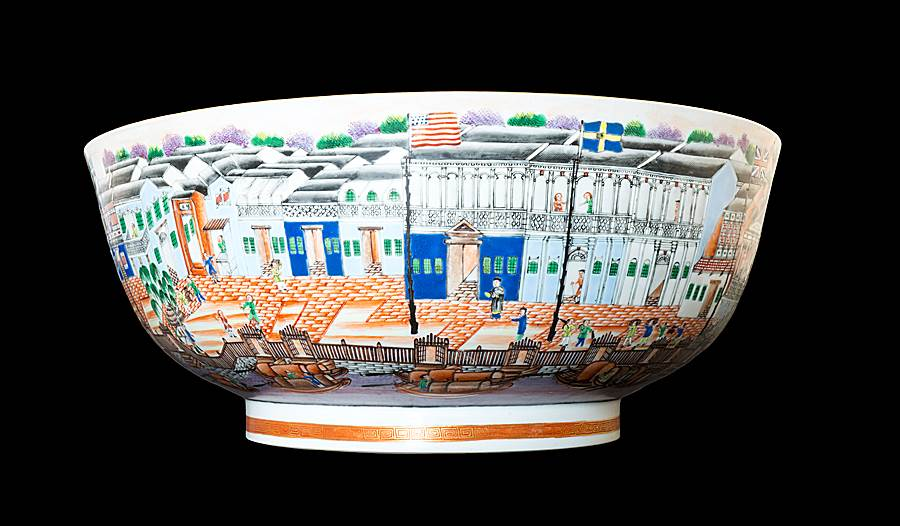 SOLD - Chinese export porcelain famille rose Hong Bowl