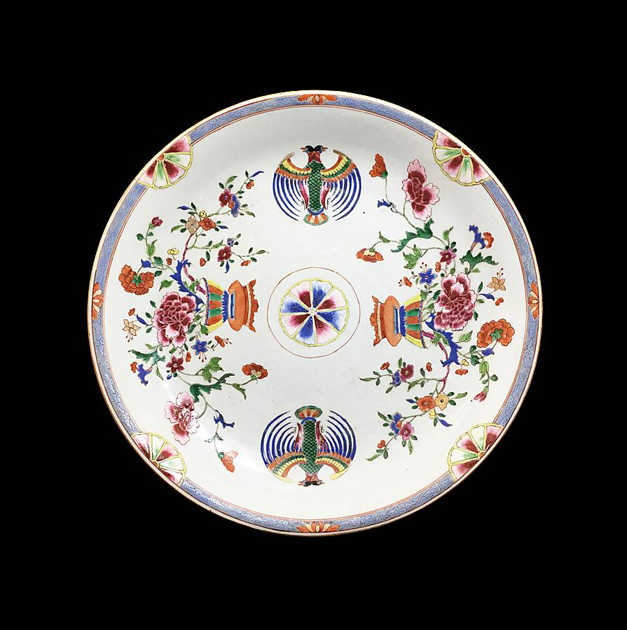 Chinese export porceain large saucer for the Mexican market
