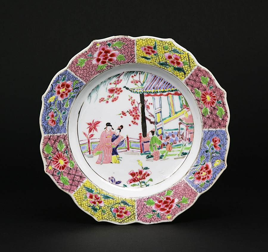 chinese export porcelain famille rose plate
