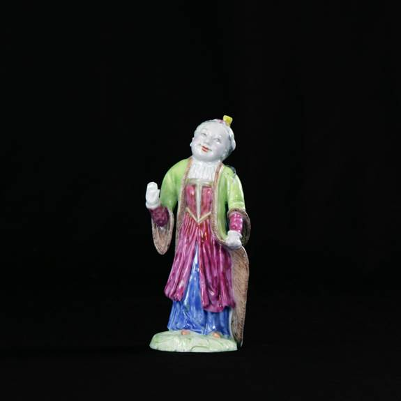 Chinese export porcelain figure of a girl in turkish dress