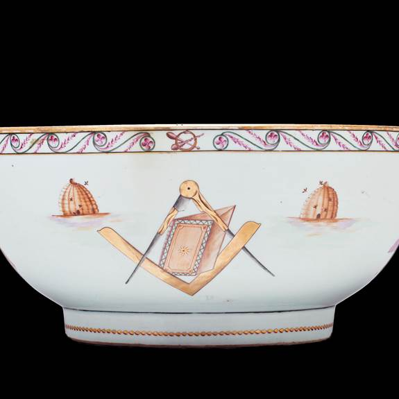 Chinese export porcelain Masonic Punchbowl