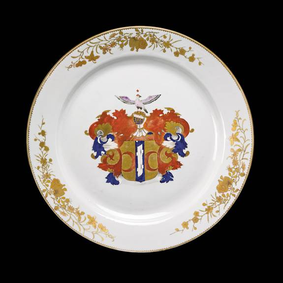 chinese export porcleain armorial charger