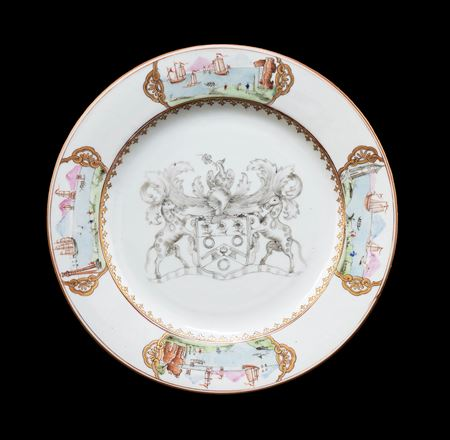 Chinese export porclain armorial plate with the arms of the Coopers' company