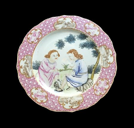 Chinese export porcelain dinner plate