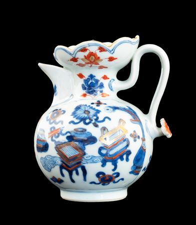 Chinese porcelain 'monk's cap' jug and cover