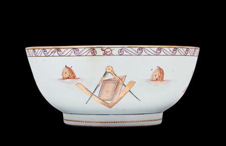 Chinese export porcelain Masonic Punchbowl