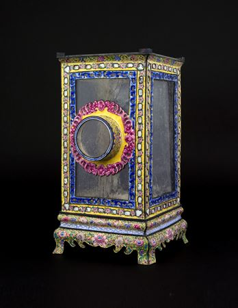 Sold: Chinese export Painted Enamel Lantern