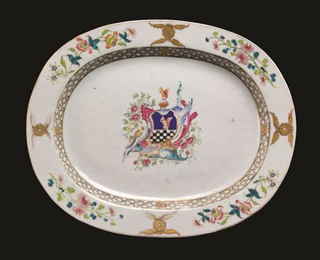 chinese export porcelain armorial meat dish