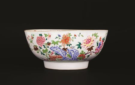 chinese export porcelain famille rose punchbowl