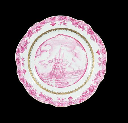 chinese export porcelain marine subject dinner plate