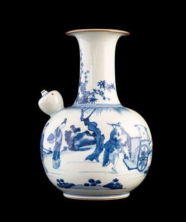 large chinese porcelain blue and white kendi